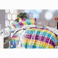 China Cotton Satin Bedding Set, Customized Colors are Accepted on sale
