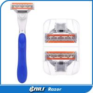 Quality BAILI REGAL System Razor 3 Blade Flexible Swiveling Head A Glide Strip for sale