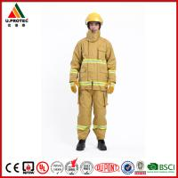Quality EN469 Firefighter Uniforms Fireman Turnout Gear Yellow Orange Navy Blue Custom Color for sale