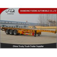 Buy cheap 40 foot straight frame container chassis tri axle container carrier truck semi trailer from wholesalers
