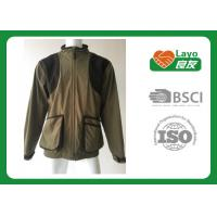 Quality 100% Polyester Olive Color Fleece Hunting Jacket For Hunting / Hiking / Camping for sale