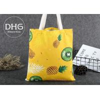 Quality Promotional Colored Screen Printed Canvas Bags Soft Damp Proof Brearhable for sale