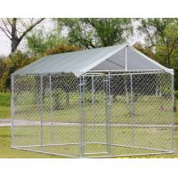 Buy cheap Chain Link Fence Large Dog Enclosures Outdoor Galvanized Surface Treatment from wholesalers