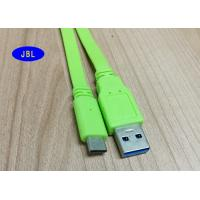 PVC Jacket Green Flat USB 3.1 Type C Cable , USB 3.1 Type C Connector Cable