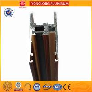 Buy cheap Flat Open Wood Finish Aluminium Profiles 6005 / 6063 For Window from wholesalers