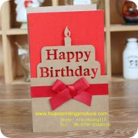 Quality Birthday Cards with Ribbon for sale