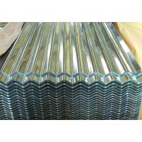 Quality Cold Corrugated Galvanized Sheet Metal Light Oiled Chromated Surface Treatment for sale