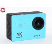 Quality 2.0 Inch LCD Blue 4k Sports Action Camera FHD Wide Angle With Water Proof Case for sale