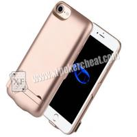 Buy cheap Plastic 5.5 Inch IPhone 8 Plus Power Case Spy Camera / Playing Card Scanner from wholesalers