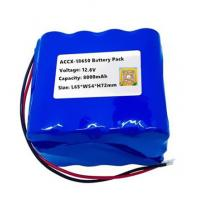 Buy cheap 12.6V 8Ah rechargeable li-ion battery pack  for sweeper machine with high cycel life best quality approval from wholesalers