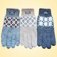 Quality Acrylic Knitted Jacquard Gloves, Logo Printing Service is Available for sale