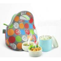 Quality Insulated Neoprene Lunch Tote / Cooler Lunch Box , Heat Transfer Printing for sale