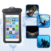 Amphibious Floatable Waterproof Phone Pouch Bag With Lanyard and Armband Strap For Swimming / Running