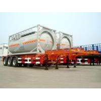 Quality Tri Axle 20ft  ISO Tank Container Transport Skeletal Chassis Semi Trailer for sale