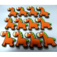 China Cartoon Orange Donkey 3d Soft PVC Patches / Labels For Children Clothes Accessories on sale