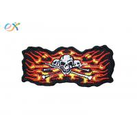 Quality Punisher Skull Irregular Custom Motorcycle Patches With Merrow Edge for sale