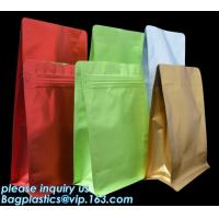 Quality Coffee Stand Up Zip Lock Bags Aluminum Foil Food Packaging Metallized Standing for sale