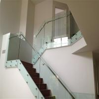 China Modern design interior glass railing SUS balustrade fittings with patch fitting on sale