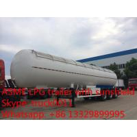 Quality factory direct sale 56,000L lpg gas tanktrailer , high quality 23.5ton propane gas trailer with aluninum cover for sale for sale