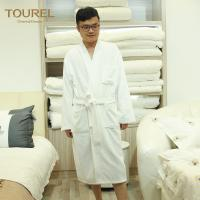 Quality White Cotton Luxury Spa Bathrobes for Women With Pocket And Waist for sale