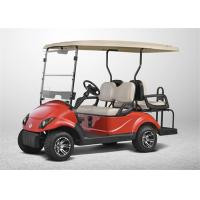 Ez Go 2+2 Type 4 Seater Golf Carts Electric Car  For 4 Person In Coral Red Colour