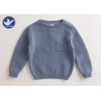Quality Chest Patch Pocket Toddler Boy Pullover Sweater Cotton Crew Neck Anti - Pilling for sale
