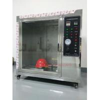 Quality Safety Helmet Flammability Test Chamber For Hard Hat Manufacturers IS0 3873 for sale
