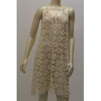 China Embroidered crochet halter neck dress / ladies fashion apparel on sale