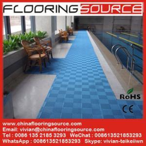 Buy cheap Interlocking PVC Swimming Pool Mat Non silp safety mat product