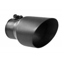 Quality Round Black Coated 3 Inch Exhaust Tip For Auto Tail Pipe for sale