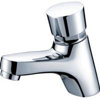 Quality Polished Chrome Self Closing Faucet Brass Mixer Taps with CE , 0.05MPa - 0.9MPa for sale