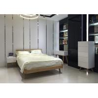 Quality Contemporary Low Height Wood Frame Bed With Wooden Slat European Style for sale