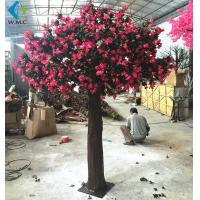 China Red Artificial Flower Tree , Faux Azalea Tree For Spring Landscape Decoration on sale