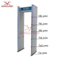 Quality 6 Zone Enhanced  Airport Metal Detector Security Gate For Military Sites Security Check for sale