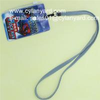 China Cheap blank polyester id badge neck strap with print plastic pouch on sale