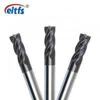 Quality 4 Flute Square End Mill Cutter , Metal Cutting End Mills HRC55 Flat Relief Angle for sale