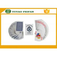 Buy cheap Paper / Plastic Poker Playing Cards With ROHS / SGS Certification from wholesalers