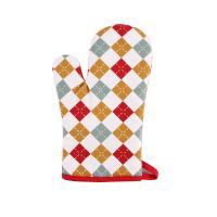 Quality Hand Protective Cotton Oven Mitts , Christmas Pattern Printed Kitchen Mitts Gloves for sale
