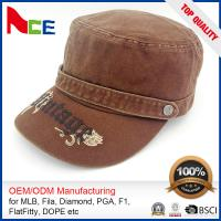 China Custom Embroidered Military Caps , Military Boonie Cap Autumn Winter Fitted on sale