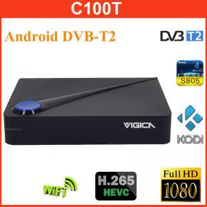Buy cheap Vigica C100T Android DVB-T2 Combo Digital TV Receiver Qual CoreTv Player w/ H.265 / HEVC / CCCAM / 4 USB / 1GB / 8GB from wholesalers