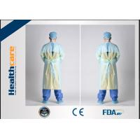 Quality PE / CPE Plastic Disposable Isolation Gowns , Patient Surgical Gowns S-XL Size for sale