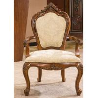 Quality Antique Wooden Modern Upholstery Fabric Dining Room Arm Chairs for Restaurant for sale