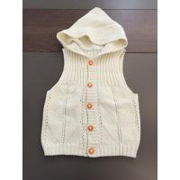 Buy cheap Sleeveless Cardigan Kids Hooded Sweater , Cotton Kids White Sweater Vest from wholesalers