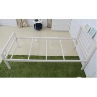 Quality Simple designed stable metal frame bed, steel structure with single size for sale