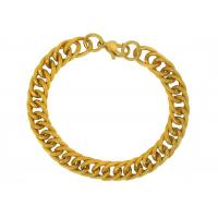Gold Pave Chain Link Stainless Steel Bangle Bracelets For Wedding Anniversary Charm Jewellery
