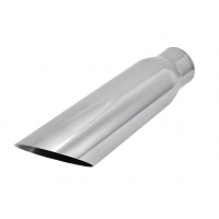 """Quality SS304 2.25"""" Inlet 3"""" Outlet 12"""" Exhaust Pipe Tips for sale"""