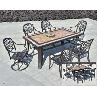 Quality Leisure  Garden Cast Aluminum 6 Seater Outdoor Furniture Table And Chair Set Garden Furniture for sale