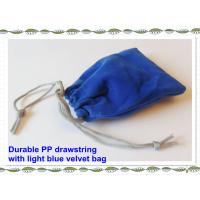 Quality Sewing By Hand Lovely Velvet Drawstring Bag , Satin Drawstring Bag for sale