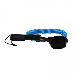 Quality Black Blue TPU 7mm SUP Coil Leash for sale