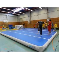 Quality Sturdy Airtight Tumbling Crash Mats , 12*8m Gymnastics Inflatable Tumble Track for sale